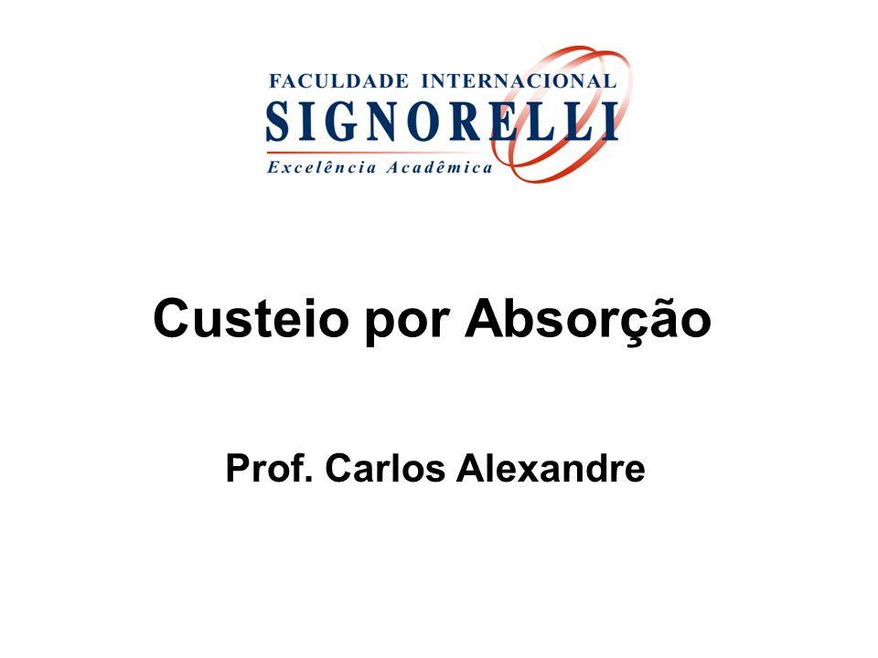 Custeio por Absorção Prof. Carlos Alexandre