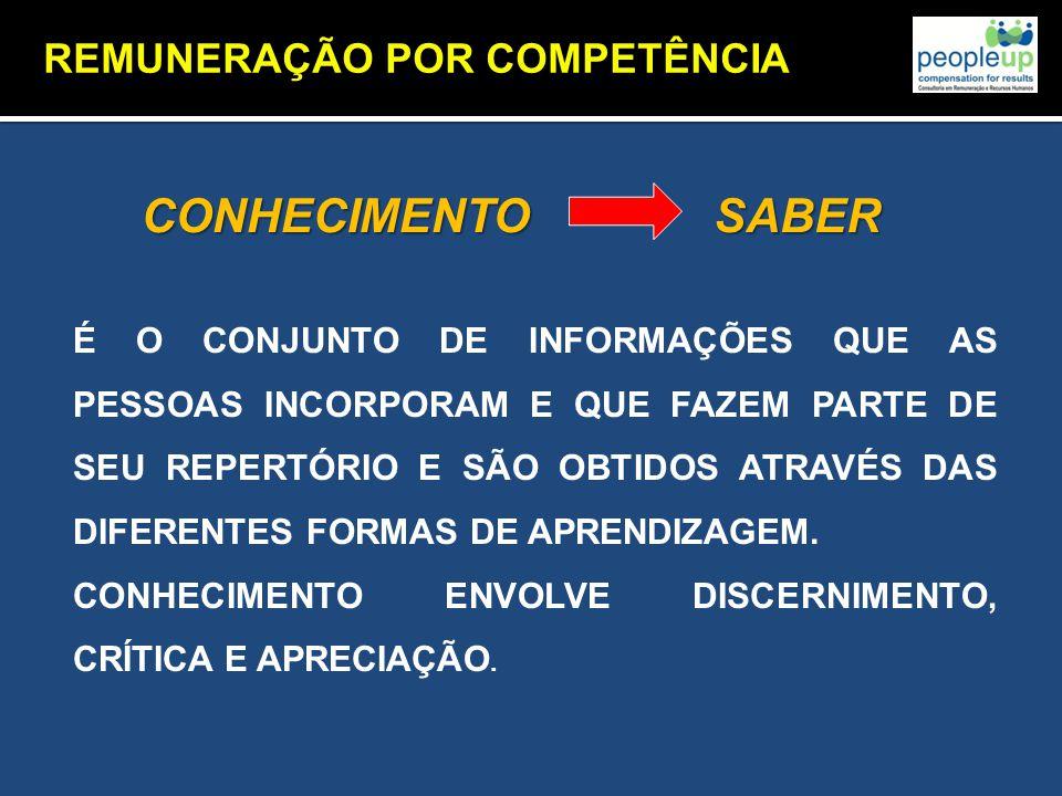 CONHECIMENTO SABER REMUNERAÇÃO POR COMPETÊNCIA CONCEITO
