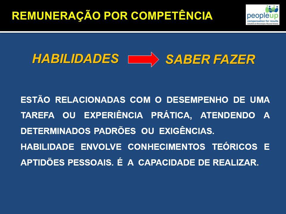 HABILIDADES SABER FAZER REMUNERAÇÃO POR COMPETÊNCIA