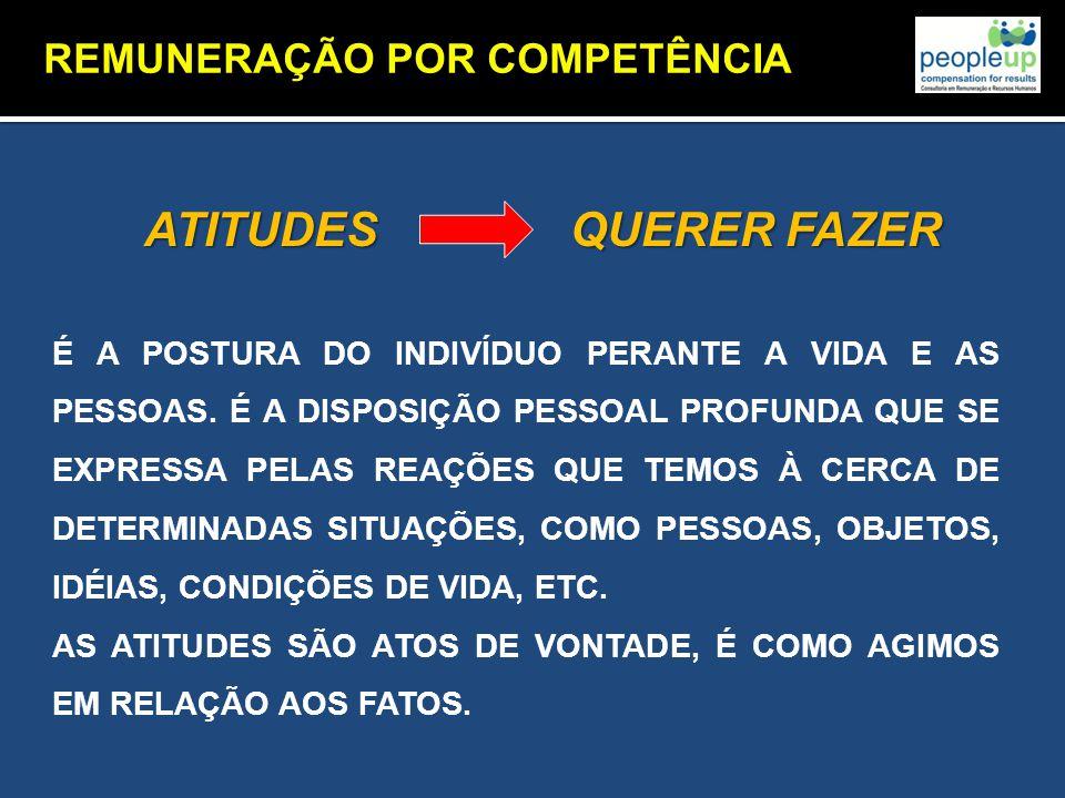 ATITUDES QUERER FAZER REMUNERAÇÃO POR COMPETÊNCIA
