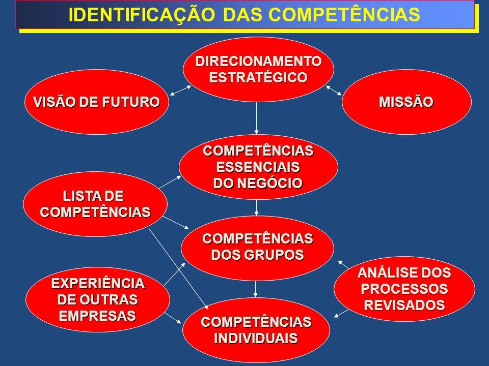 IDENTIFICAÇÃO DAS COMPETÊNCIAS