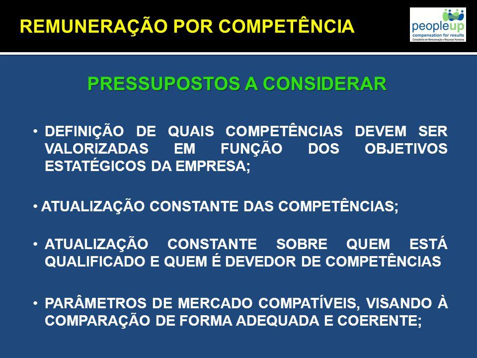 REMUNERAÇÃO POR COMPETÊNCIA