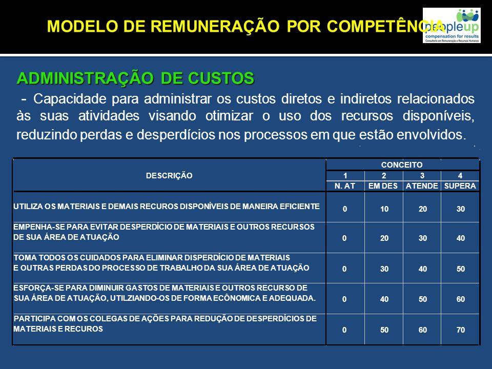 MODELO DE REMUNERAÇÃO POR COMPETÊNCIA