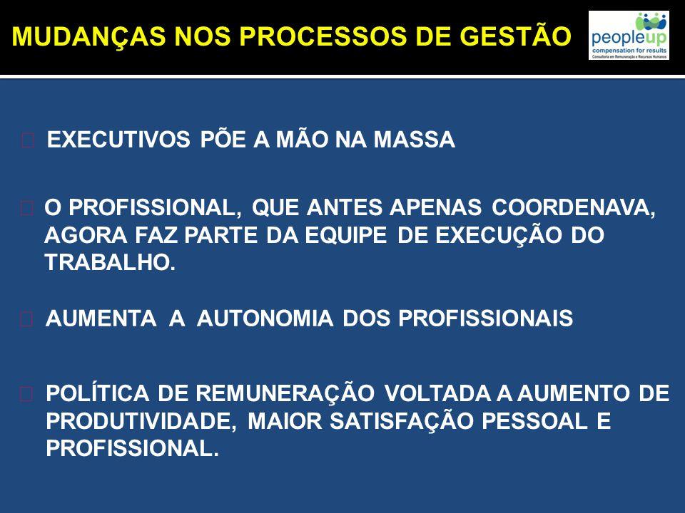 MUDANÇAS NOS PROCESSOS DE GESTÃO