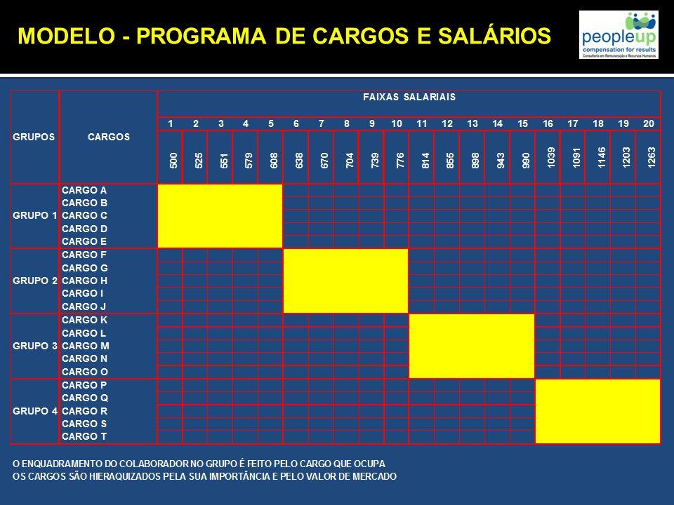 MODELO - PROGRAMA DE CARGOS E SALÁRIOS