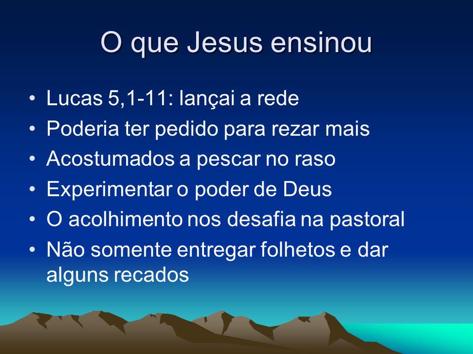 O que Jesus ensinou Lucas 5,1-11: lançai a rede