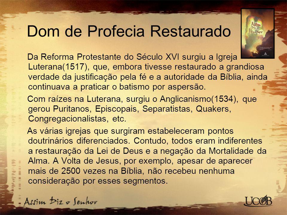 Dom de Profecia Restaurado
