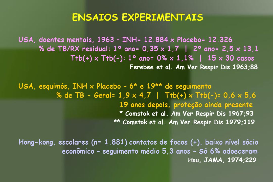 ENSAIOS EXPERIMENTAIS