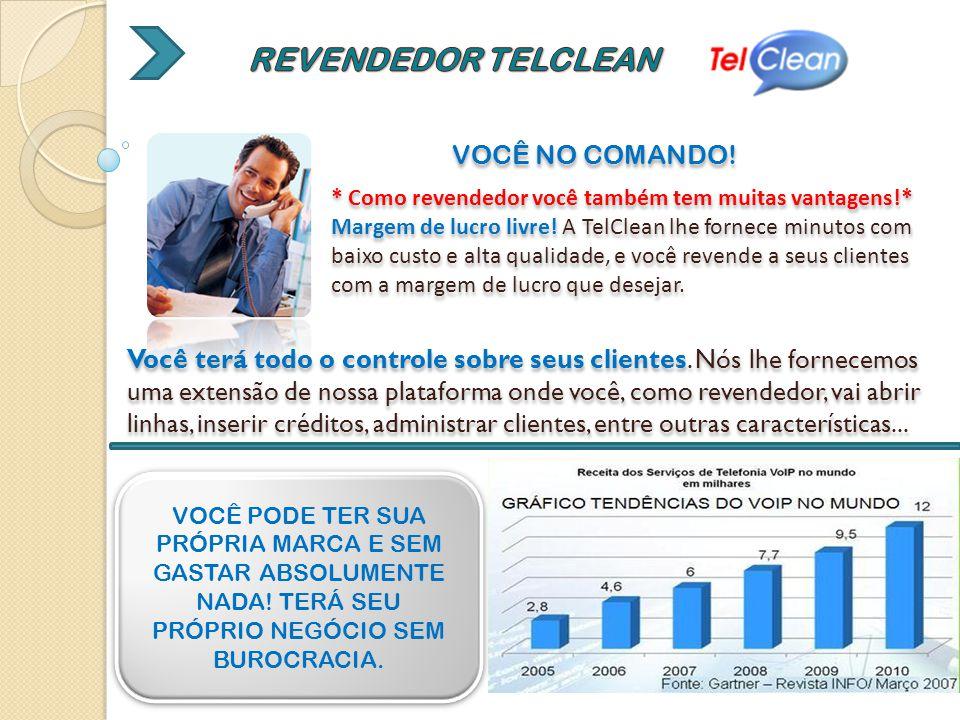 REVENDEDOR TELCLEAN VOCÊ NO COMANDO!