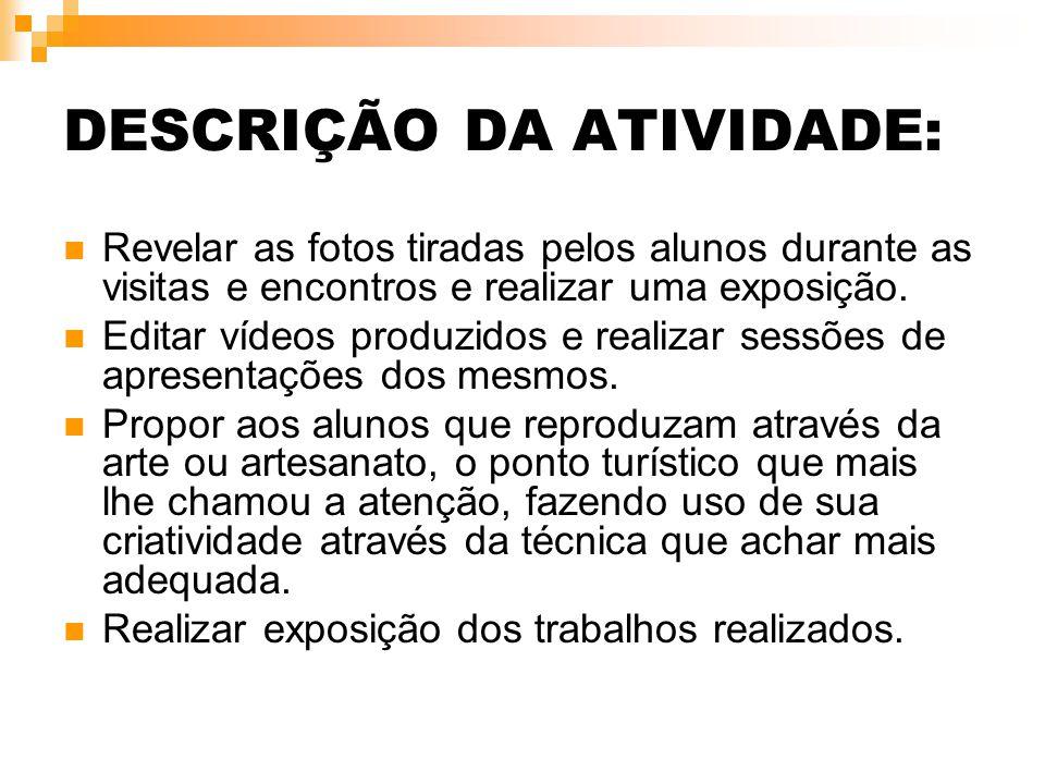 DESCRIÇÃO DA ATIVIDADE: