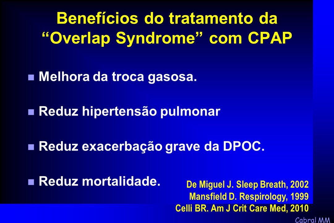 Benefícios do tratamento da Overlap Syndrome com CPAP
