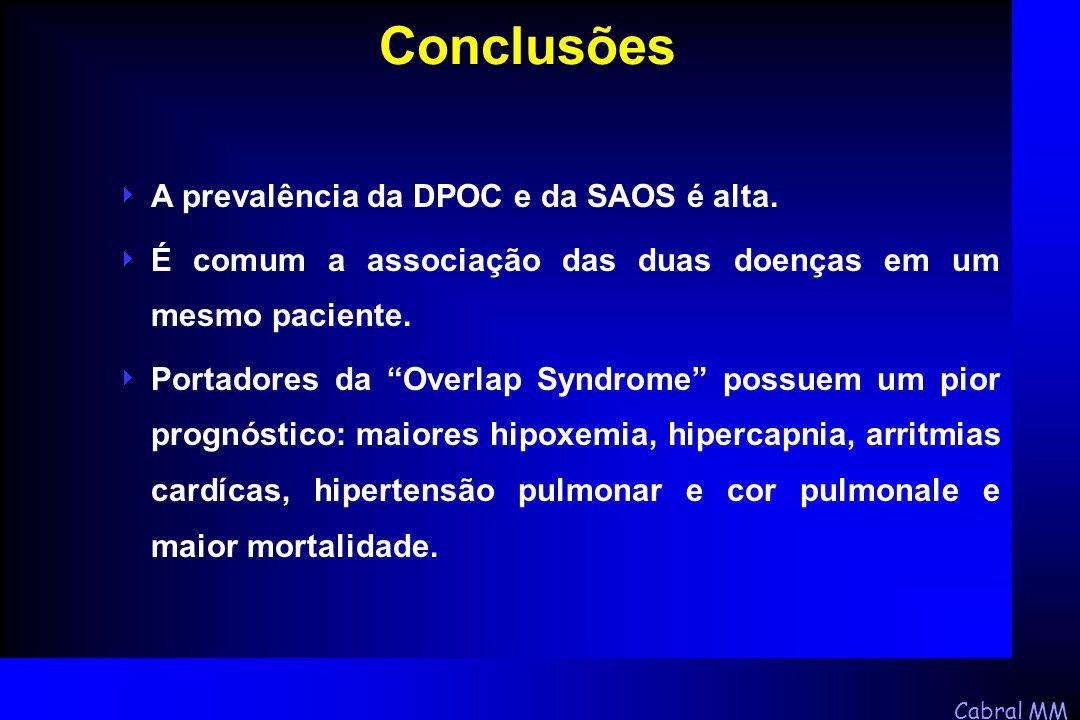 Conclusões A prevalência da DPOC e da SAOS é alta.