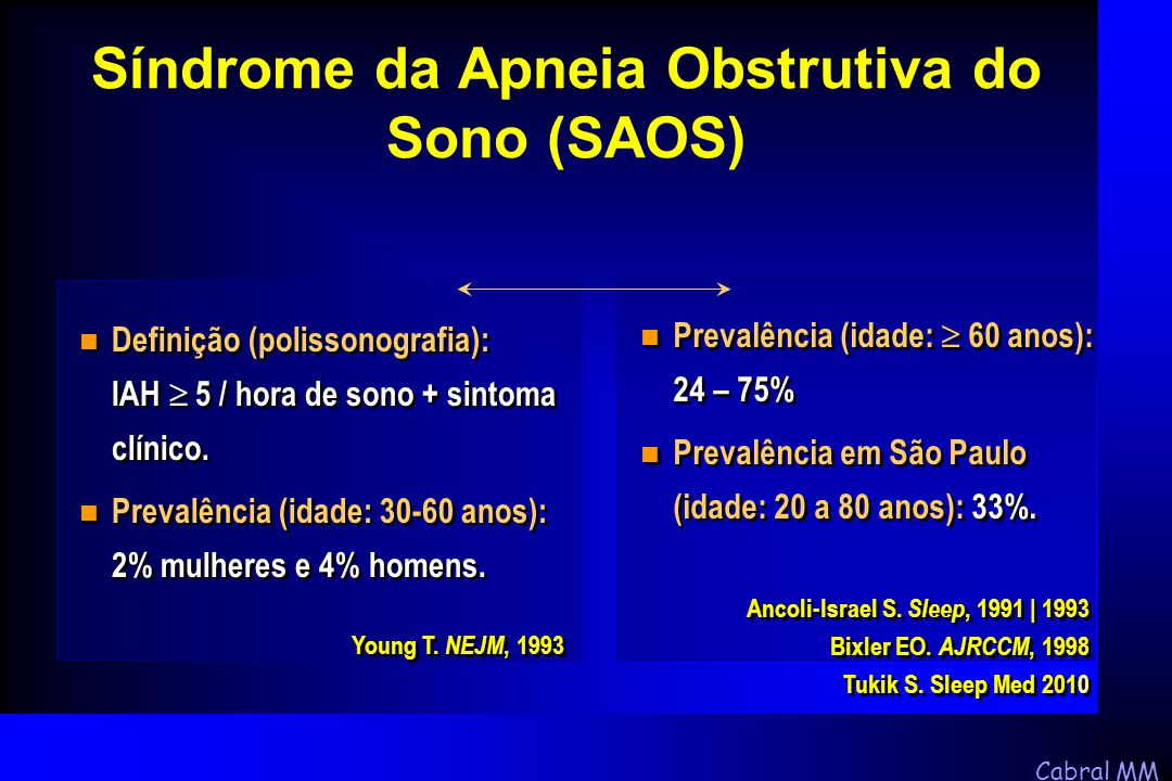 Síndrome da Apneia Obstrutiva do Sono (SAOS)