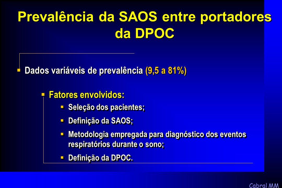 Prevalência da SAOS entre portadores da DPOC