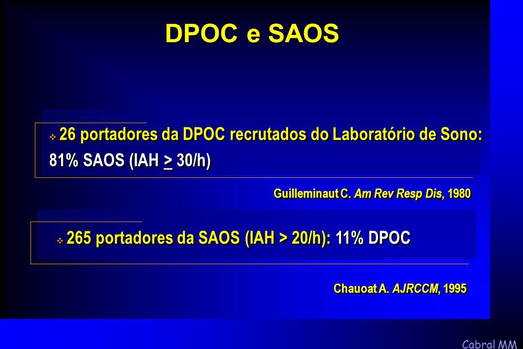 DPOC e SAOS Guilleminaut C. Am Rev Resp Dis, 1980