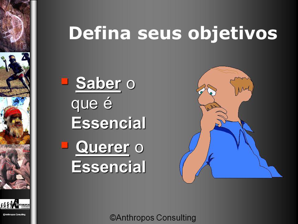 Defina seus objetivos Saber o que é Essencial Querer o Essencial