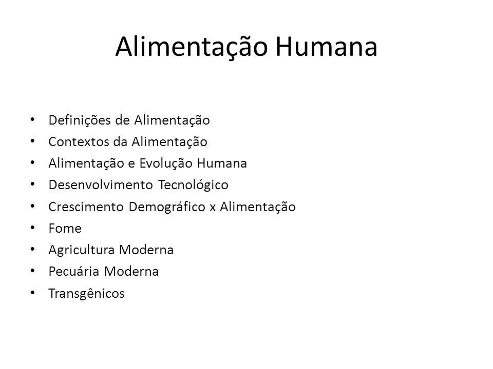 Alimentação Humana Definições de Alimentação Contextos da Alimentação