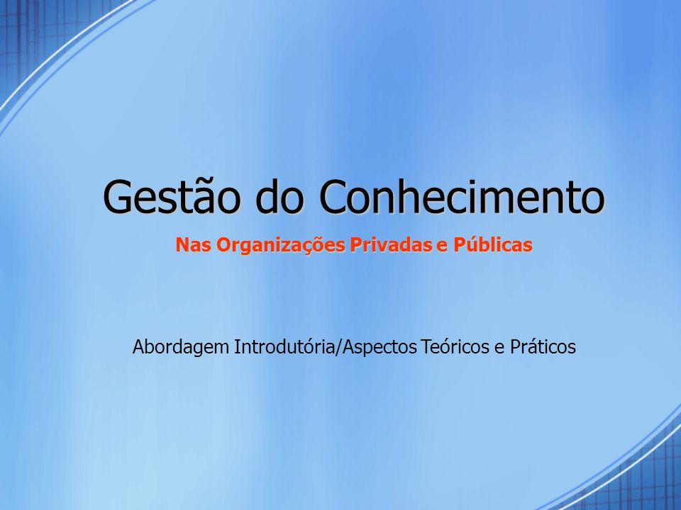 Nas Organizações Privadas e Públicas