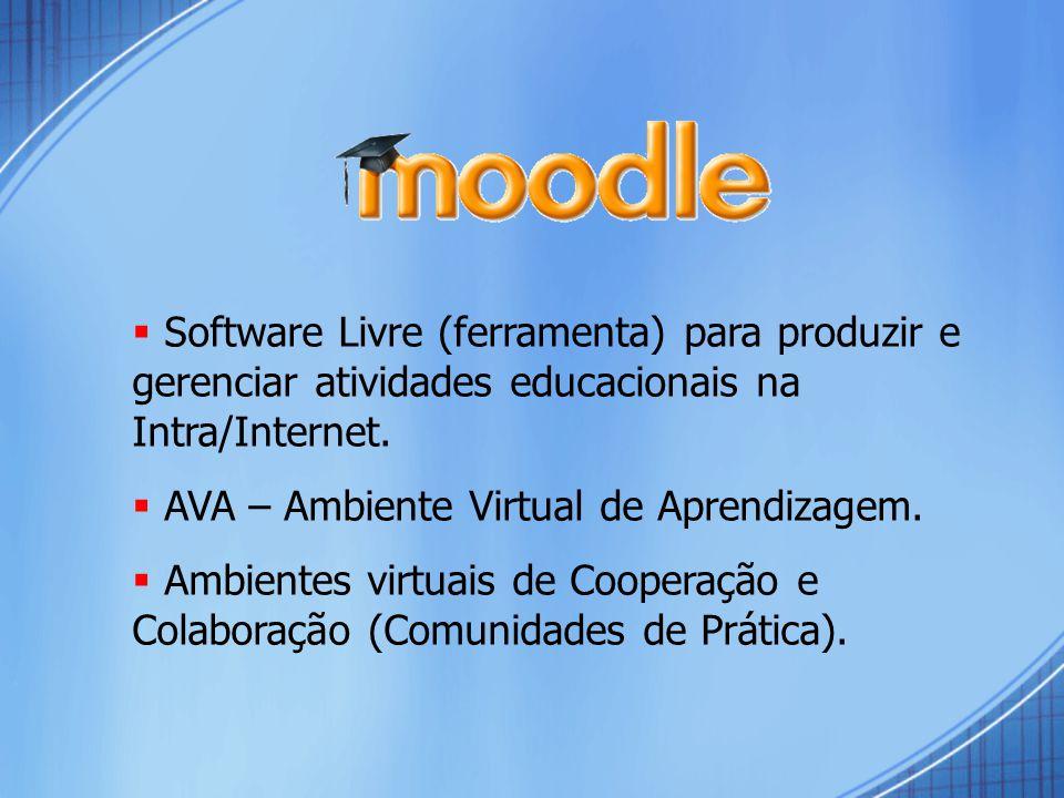 Software Livre (ferramenta) para produzir e gerenciar atividades educacionais na Intra/Internet.