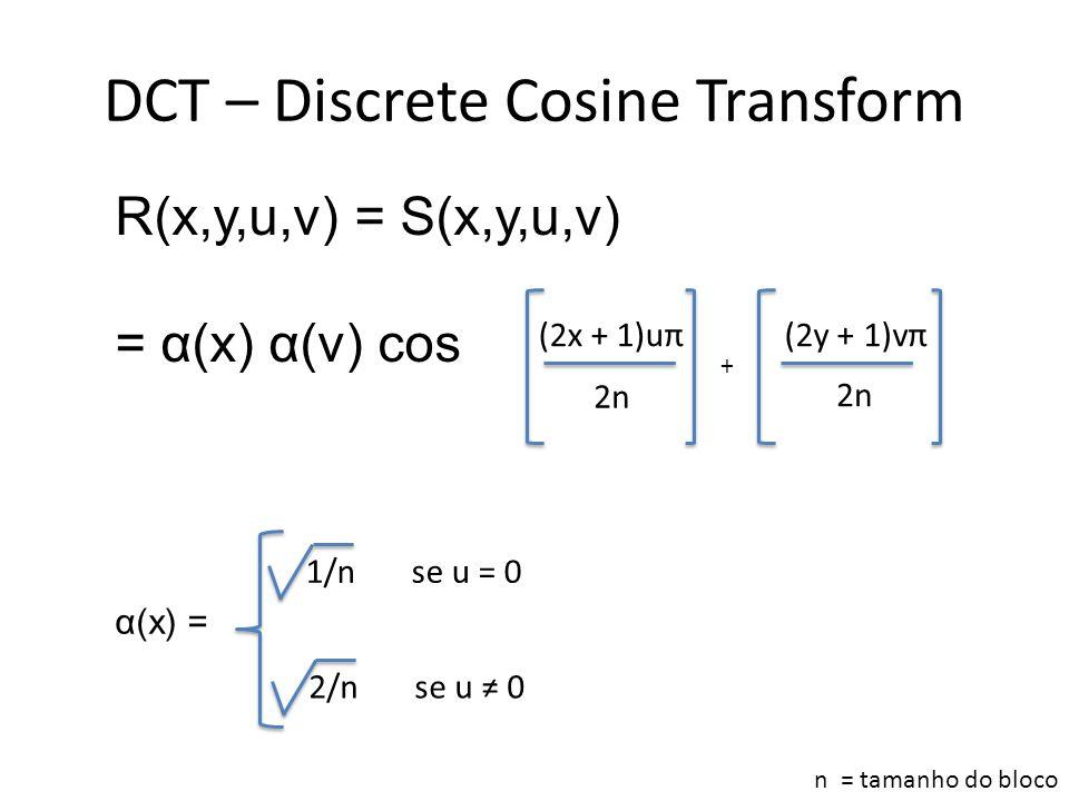 DCT – Discrete Cosine Transform