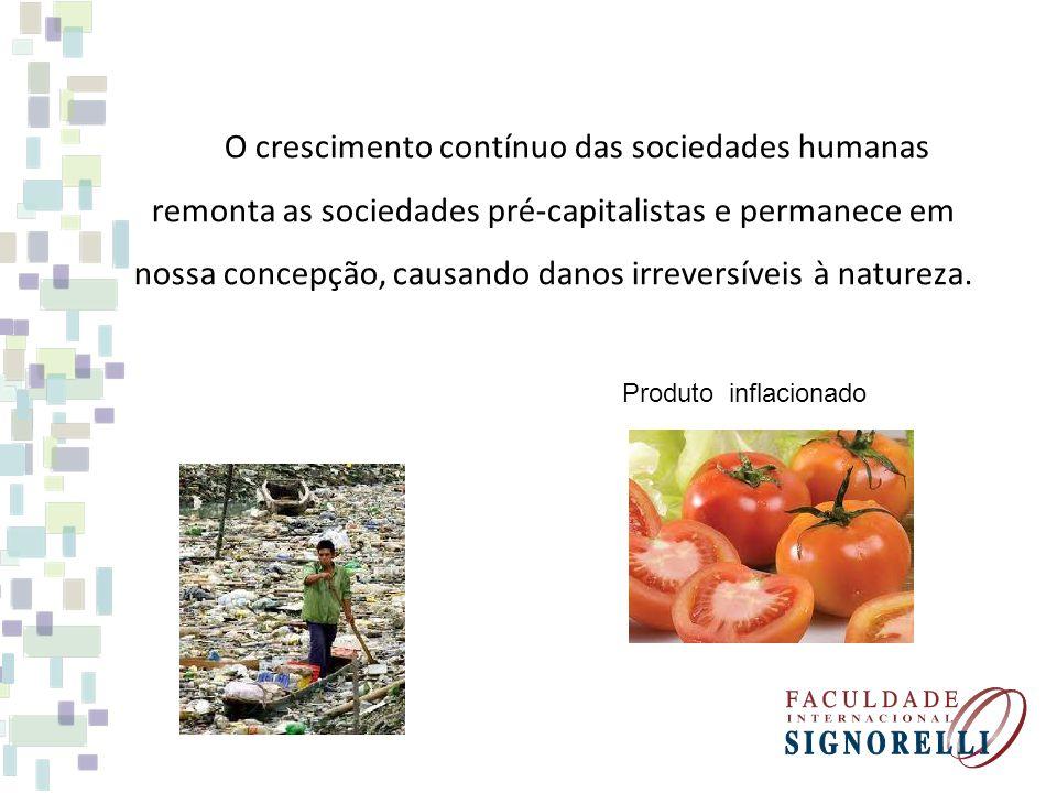O crescimento contínuo das sociedades humanas remonta as sociedades pré-capitalistas e permanece em nossa concepção, causando danos irreversíveis à natureza.
