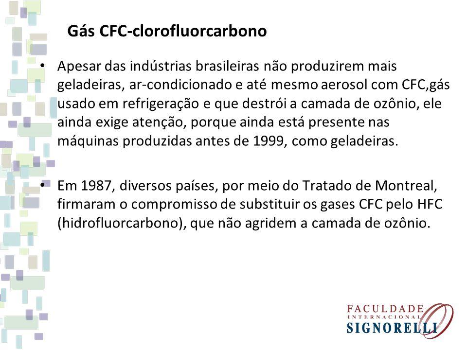 Gás CFC-clorofluorcarbono