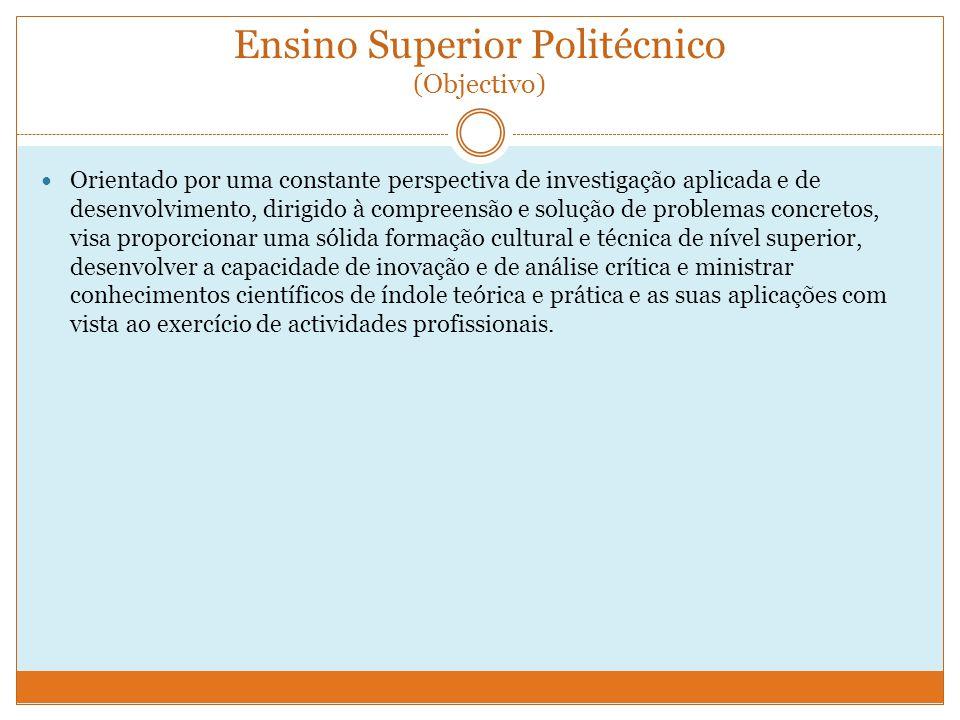 Ensino Superior Politécnico (Objectivo)