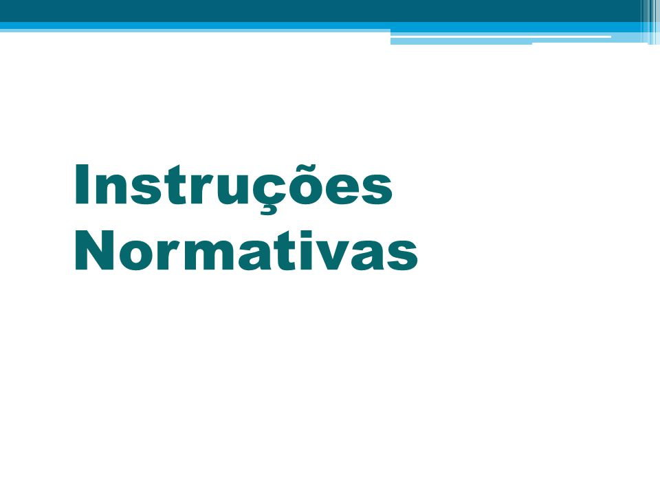 Instruções Normativas