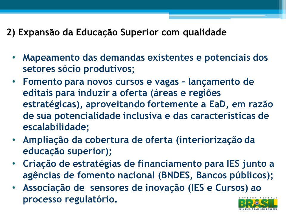 2) Expansão da Educação Superior com qualidade