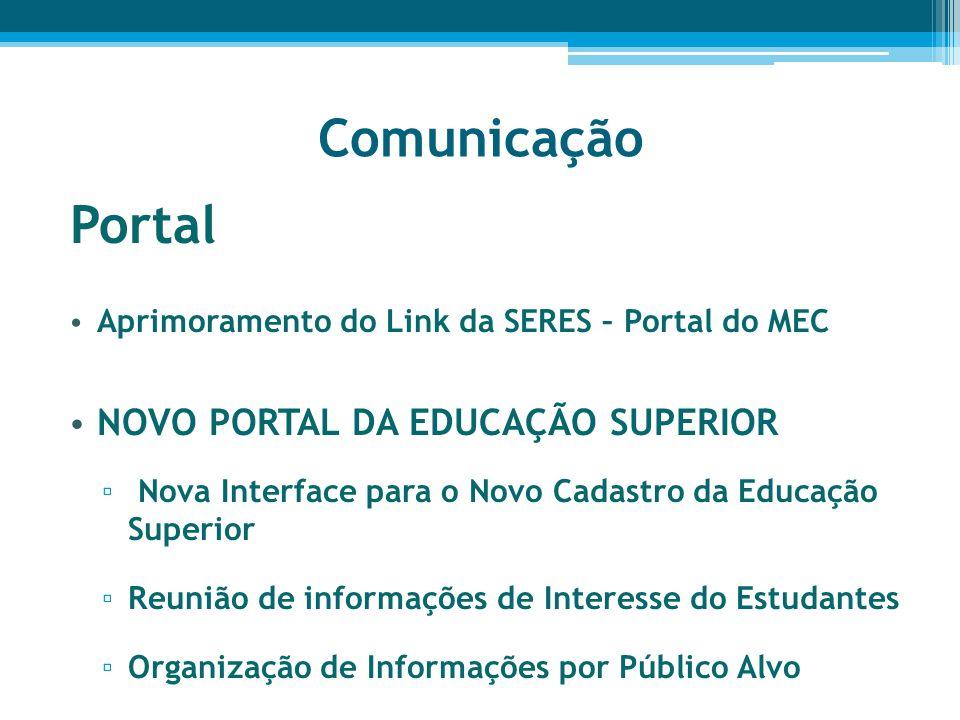 Comunicação Portal NOVO PORTAL DA EDUCAÇÃO SUPERIOR
