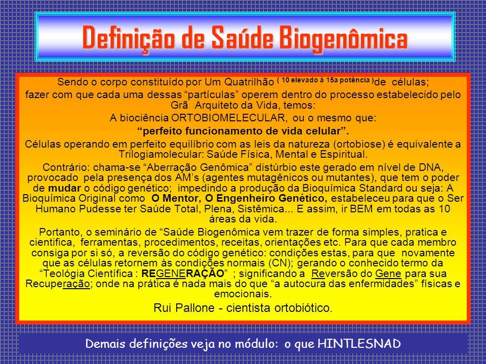 Definição de Saúde Biogenômica