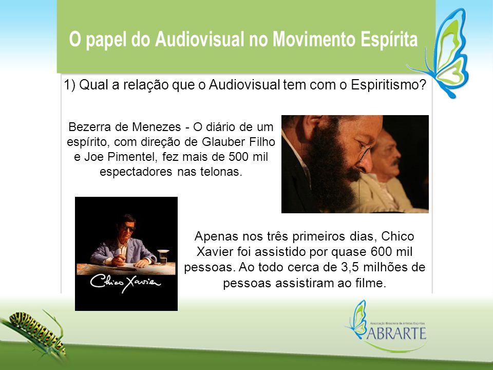 1) Qual a relação que o Audiovisual tem com o Espiritismo