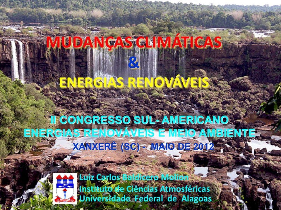II CONGRESSO SUL- AMERICANO ENERGIAS RENOVÁVEIS E MEIO AMBIENTE