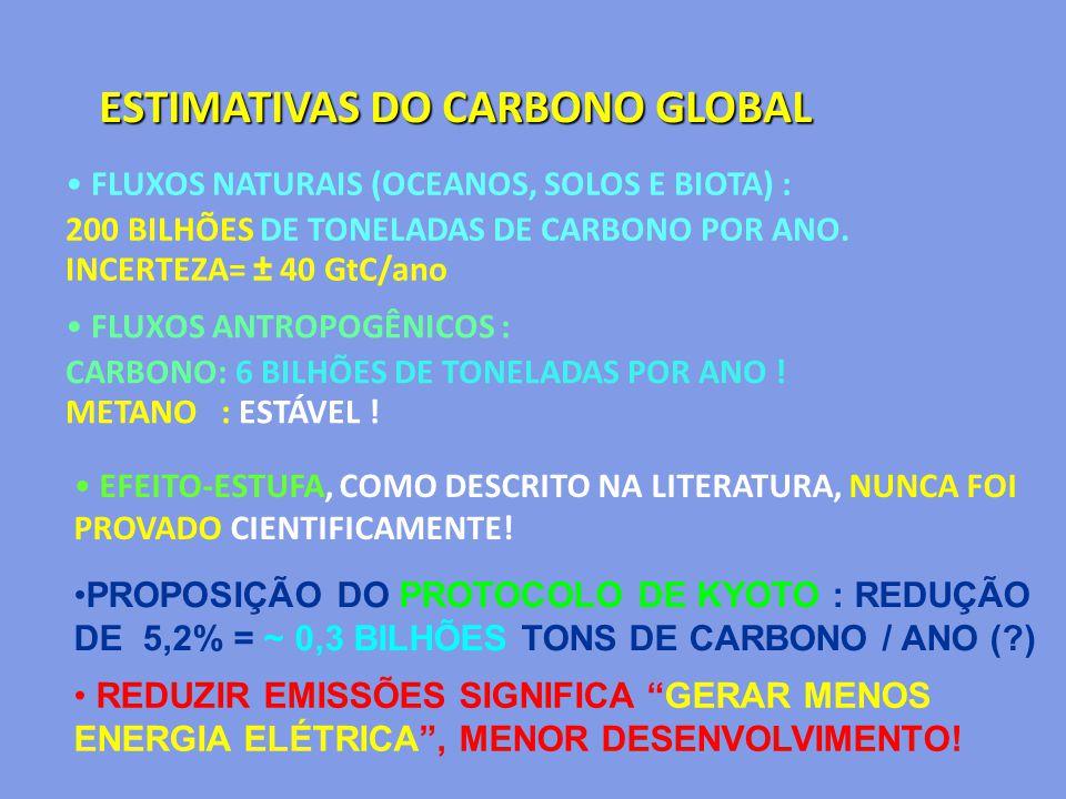 ESTIMATIVAS DO CARBONO GLOBAL