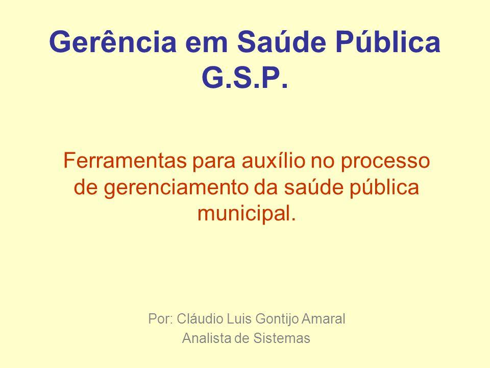 Gerência em Saúde Pública G.S.P.