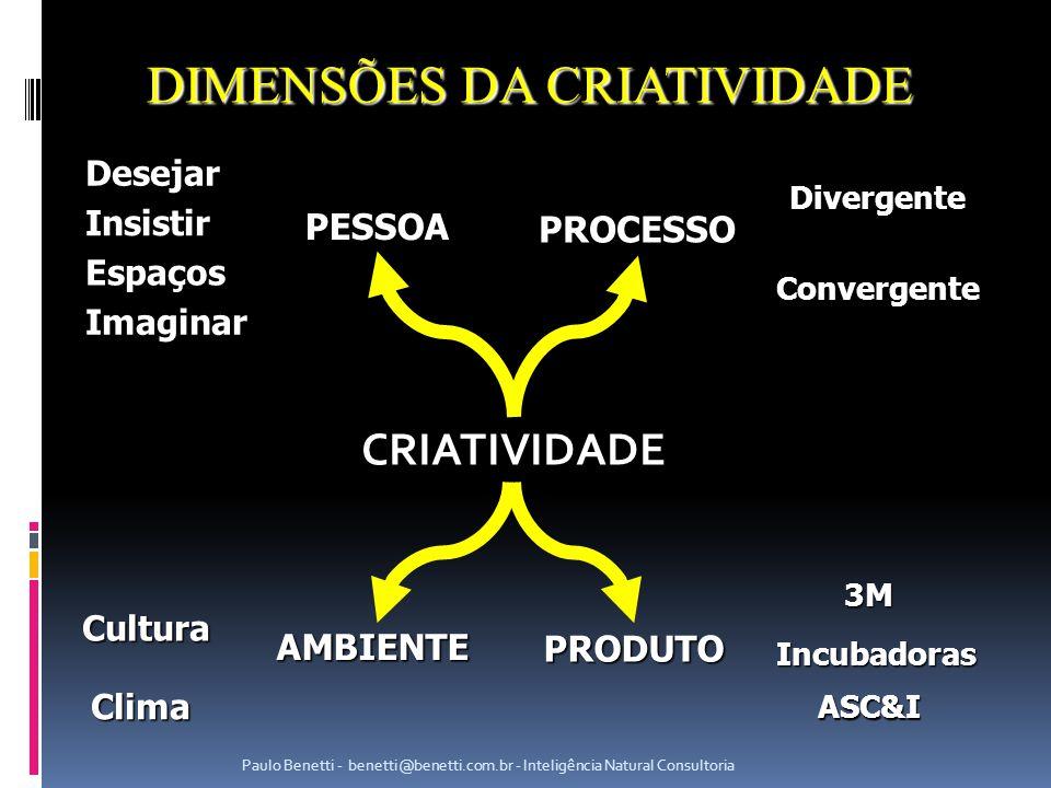 DIMENSÕES DA CRIATIVIDADE