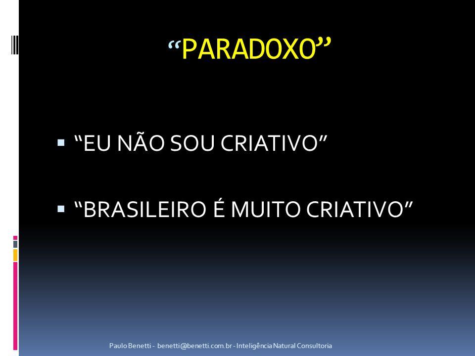 PARADOXO EU NÃO SOU CRIATIVO BRASILEIRO É MUITO CRIATIVO