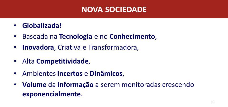 NOVA SOCIEDADE Globalizada! Baseada na Tecnologia e no Conhecimento,