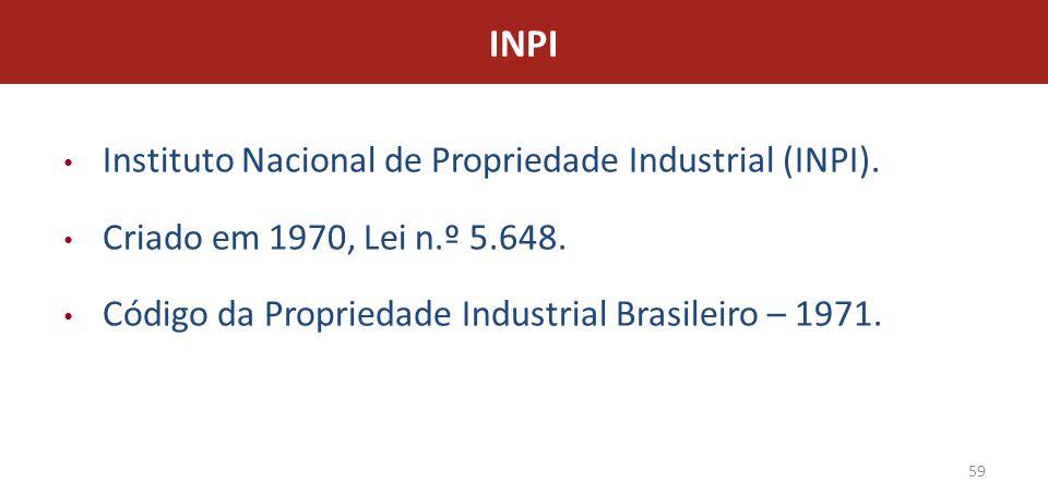 INPI Instituto Nacional de Propriedade Industrial (INPI).