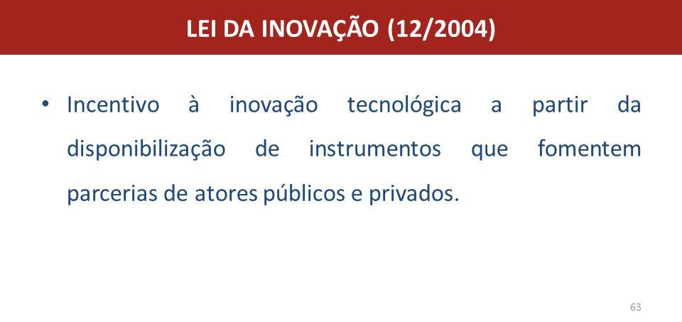 LEI DA INOVAÇÃO (12/2004)