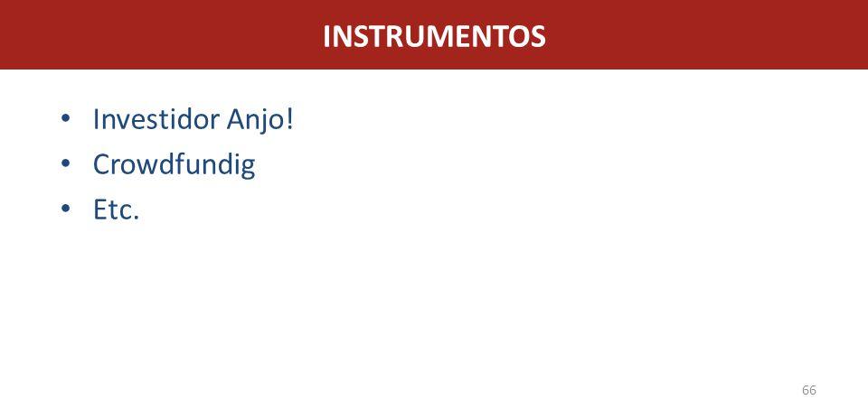 INSTRUMENTOS Investidor Anjo! Crowdfundig Etc.