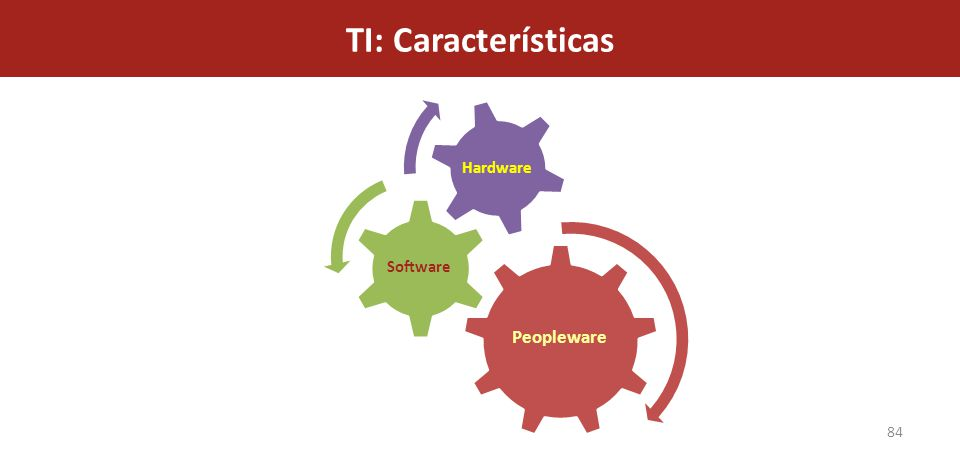 TI: Características Peopleware Software Hardware