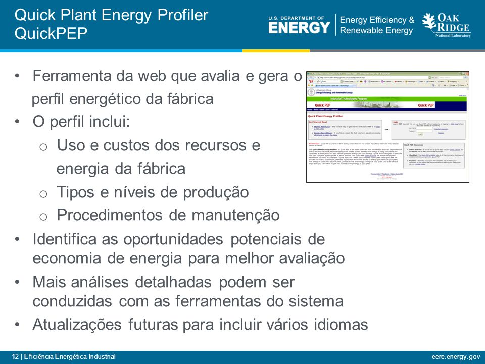 Quick Plant Energy Profiler QuickPEP