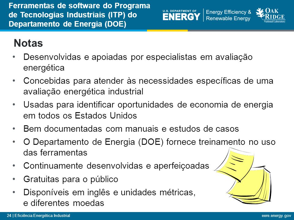 Ferramentas de software do Programa de Tecnologias Industriais (ITP) do Departamento de Energia (DOE)