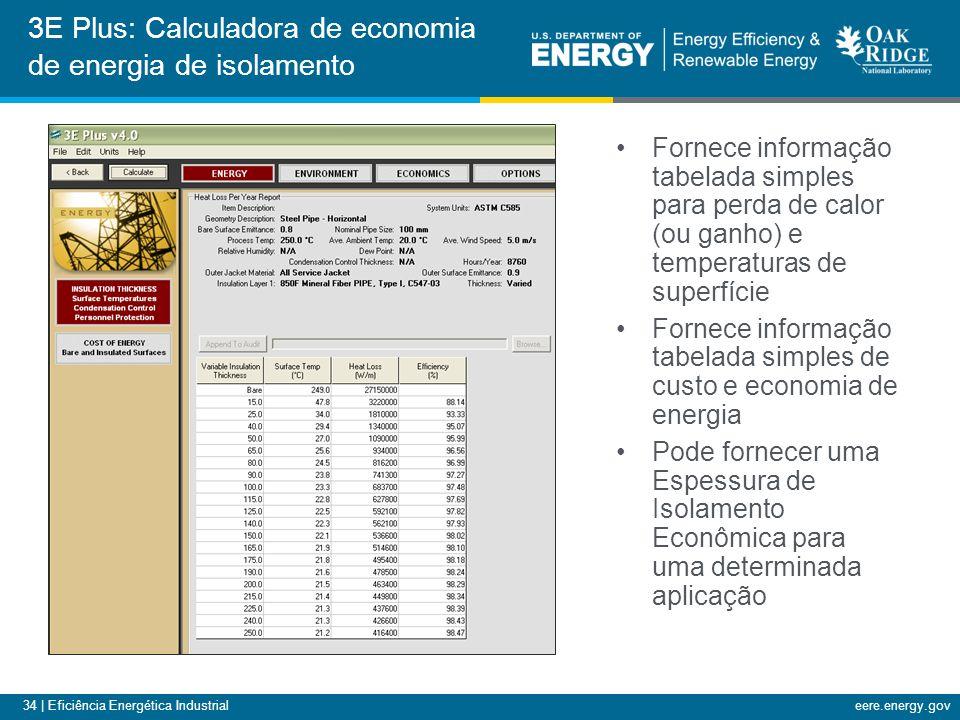 3E Plus: Calculadora de economia de energia de isolamento