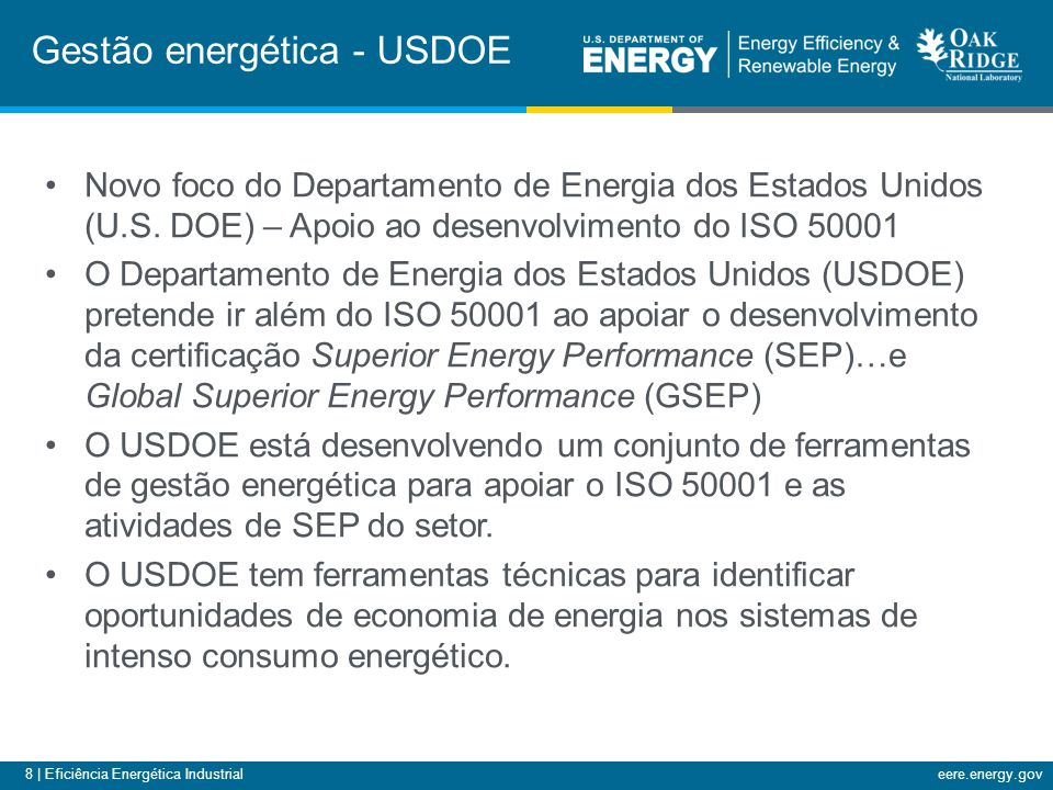 Gestão energética - USDOE