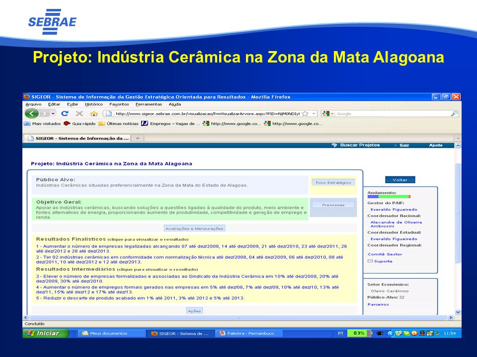 Projeto: Indústria Cerâmica na Zona da Mata Alagoana
