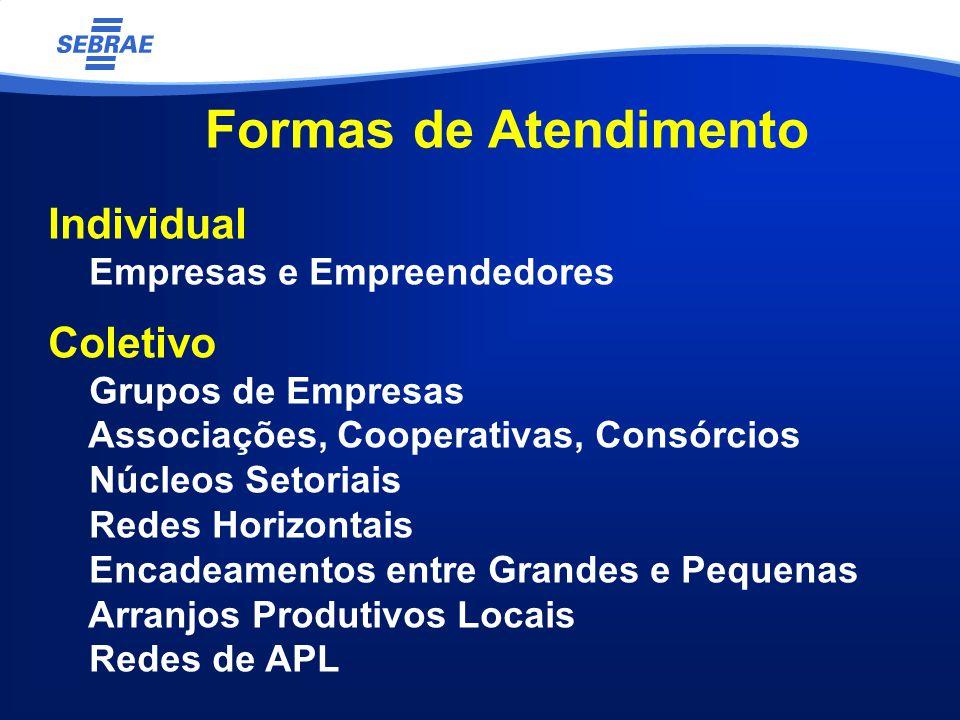 Formas de Atendimento Individual Coletivo Empresas e Empreendedores