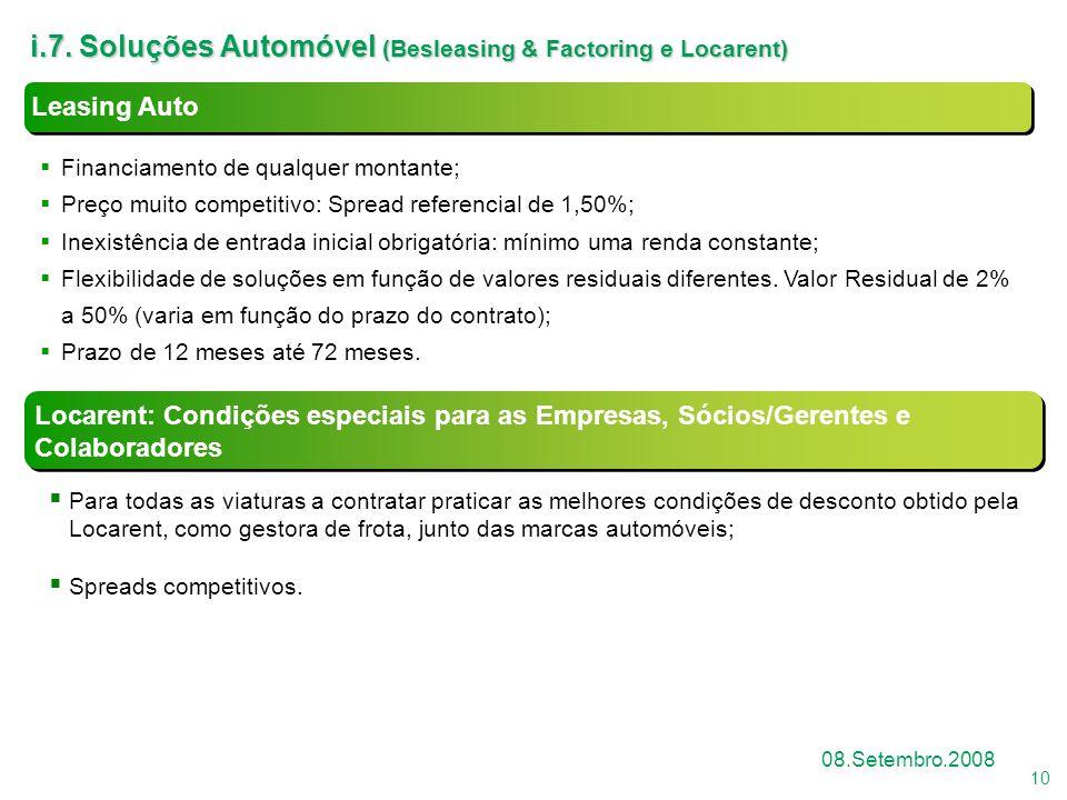i.7. Soluções Automóvel (Besleasing & Factoring e Locarent)