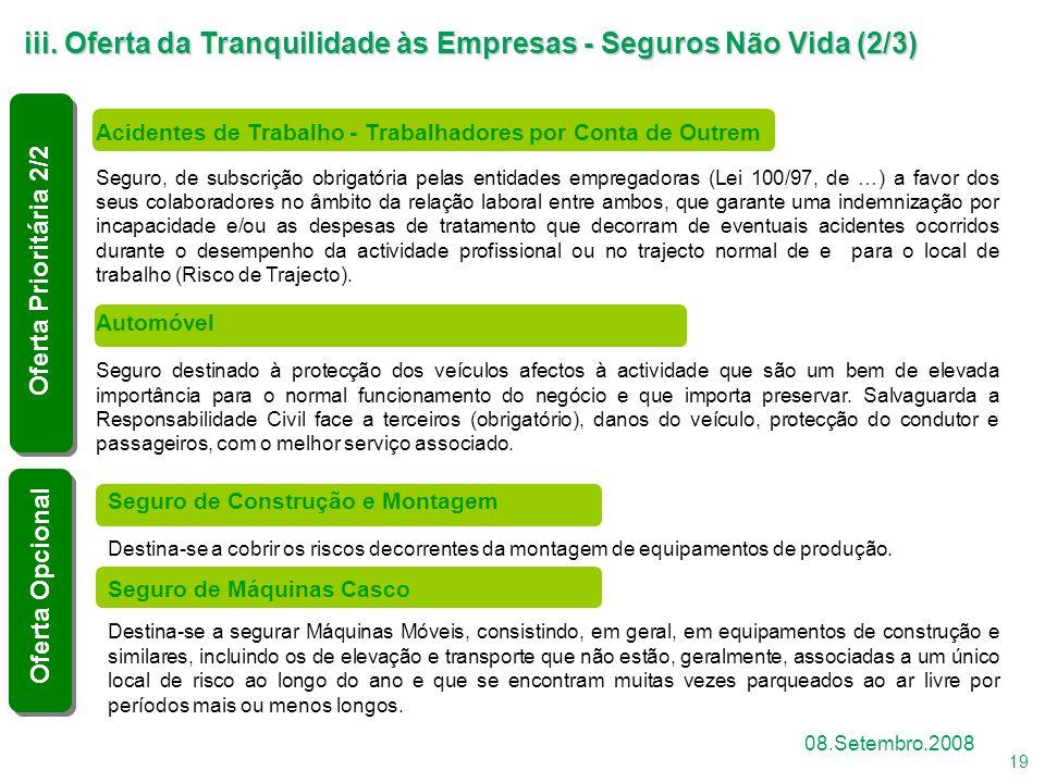 iii. Oferta da Tranquilidade às Empresas - Seguros Não Vida (2/3)